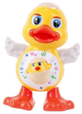Shop & Shoppee Dancing Duck With Music  Flashing Lights And Real Dance Action For Kids  (Assorted)