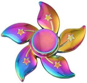 Shop & Shoppee FLower Shaped Premium Aluminium Alloy Metal with Ultra Durable High Speed Steel Bearings-Rainbow  (Assorted)