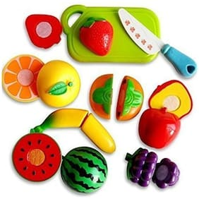 Shop & Shoppee  Realistic Sliceable Fruits & Vegetables Cutting Kitchen Play Toyset (Set of 16 Pcs)