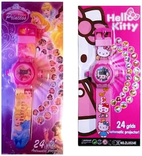Shop & Shoppee Hello Kitty And Princess Projector Wristband (Set Of 2)