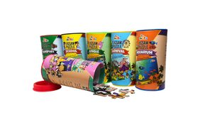 ShopMeFast Awals Theme Puzzle Combo For Kids - Transport, School, Jungle, Carnival, Aquarium And Birthday (Pack Of 6)  (240 Pieces)