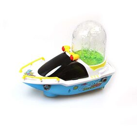 ShopMeFast Bump-N-Go Happy Fountain Boats With Light & Sound Toys For Kids