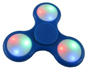 ShopMeFast Fidget Spinner with Led Light On/Off Switch Control, Anti Stress Toy For Kids And Adults (Blue)