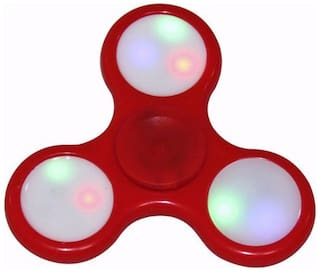 ShopMeFast Fidget Spinner with Led Light On/Off Switch Control, Anti Stress Toy For Kids And Adults (Red)
