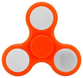 ShopMeFast Fidget Spinner with Led Light On/Off Switch Control, Anti Stress Toy For Kids And Adults (Orange)