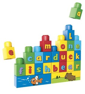 ShopMeFast Super Builders Educational ABC Spell Blocks Set With 60 Pieces For Kids