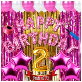 Shopperskart  presents Second/2nd happy birthday combo/kit pack material for party decorations
