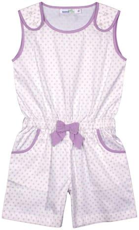 ShopperTree Cotton Printed Bodysuit For Girl - Purple