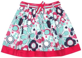 ShopperTree Girl Cotton Solid A- line skirt - Multi