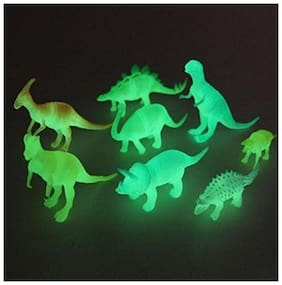 Shree Krishna Handicrafts And Gallery 8 pcs/set Night Light Noctilucent Dinosaur Figure Gift Toy for Children Kids