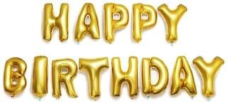 SHREE & SHREEMAN Happy Birthday letters Foil Balloon -13 letters Assorted