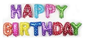 SHREE & SHREEMAN Happy Birthday Foil Balloon;( Pack of 13 Letters)