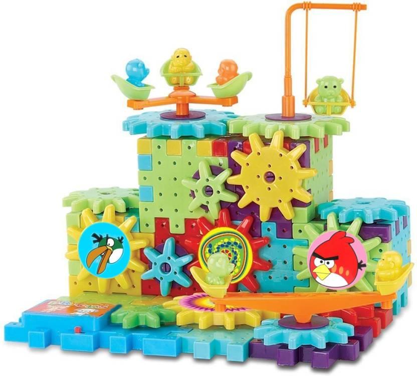Shribossji Angry Birds Battery Operated Motorized Building Blocks Construction Set With Interlocking...