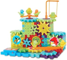 Shribossji Angry Birds Battery Operated Motorized Building Blocks Construction Set With Interlocking Gears For Kids - 81 pcs