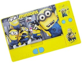 Shribossji Art Plastic Double Sided Pencil Box With Hidden Chamber With Durable Quality And Smooth Button Function (Minion)