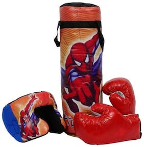 SHRIBOSSJI BOXING PUNCHING BAG KIT FOR KIDS (COLOR AND DESIGN MAY VARY) - SPIDERMAN