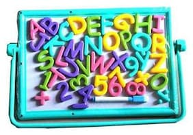 Shribossji Kids Educational Alphabet Magnetic Number Board with Marker, Chalk and Duster  (Multicolor) .