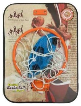 Shribossji Kirat Basket Ball Kit (Wooden Heavy Board With Ball) For Kids - Professional level