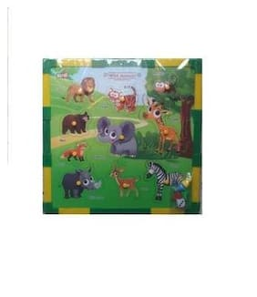 Shribossji Kirat 2 In 1 Wooden Animal Puzzle With Snake And Ladders ( Dice And Token Included )