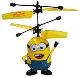 Shribossji Minion Helicopter Flying Sensor For Kids (Multicolor)