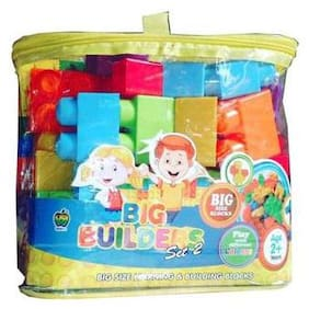 SHRIBOSSJI PREMIUM BIG BUILDING BLOCKS WITH MULTICOLOUR FOR KIDS.