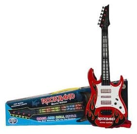 Shribossji Rock & Roll Musical Guitar With Led Lights For Kids / Children (Multicolor)