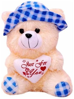 Shruti Blue & Beige Teddy Bear - 40 cm