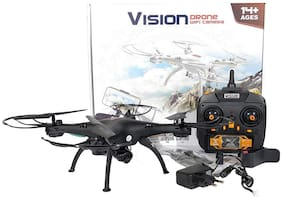 Shruti Vision Drone with WiFi Camera and 360 Degree Rolling Action (Black)