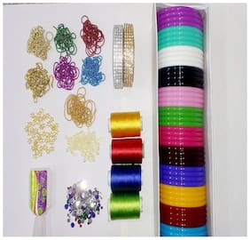 Silk Thread Bangles Making Kit with shiny threads