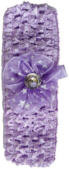 Silver Kraft Hair Band/Head Band Accessory for Baby Girls (Purple)