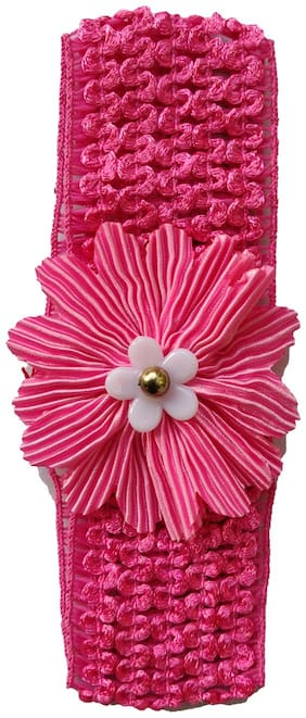 Silver Kraft Hair Band/Head Band Accessory for Baby Girls (Pink)