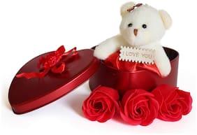 SILVOSWAN Red Teddy Bear - 12 cm