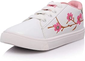 SIM STYLE White Girls Casual Shoes
