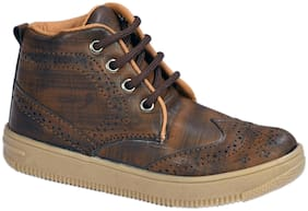 SIM STYLE Tan Boys Boots