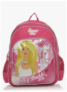 Simba 14 Inches Pink Children's Backpack (bts-2091)