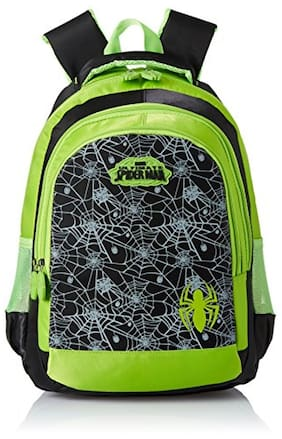 Simba 18 Inches Black And Green Children's Backpack (bts-2087)