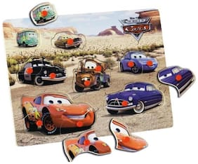 Simba 3256 Cars Wooden Puzzle (9 Parts)
