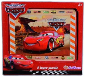 Simba Cars Wooden Puzzle 2 Layers (30x24cm)