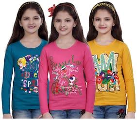 Sinimini Casual Printed Girls Top