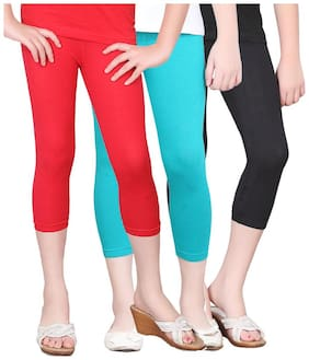 SINIMINI GIRLS COLORFUL TIGHTS CAPRI (PACK OF 3)