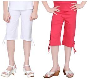 White Capri Shorts