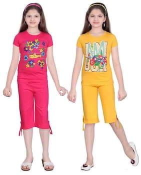 Sinimini Multi Color Top And Capri Pack Of 2 (12-18 Months)