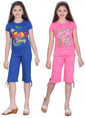 Sinimini Multi Color Top And Capri Pack Of 2 (18-24 Months)
