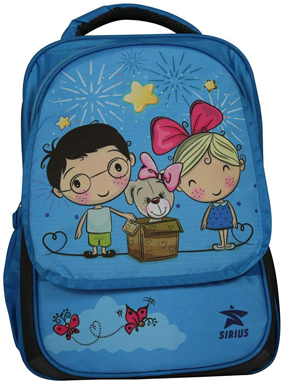 Sirius Baby Bag V2 Sky Blue  amp;Navy Blue Kids Bags School Bags Backpacks for Girls and Boys