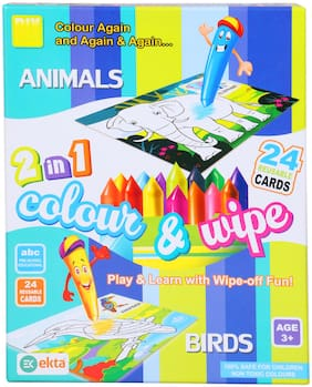 Skee 2 In 1 Color and Wipe Off, Learning Painting Kit For Kids