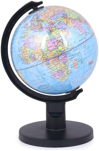 Skee Educational Laminated Desk and Table Top Political World Globe / Desk Globe / Political Globe / Study Globe /