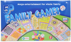 Skee Family Games Set (50 Classic Board Games in 1 Pack)