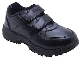 Ajanta Black Boys School Shoes