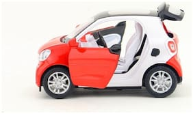 SKS  Die Cast Metal Smart Pull Back Car Toy with Openable Doors  Light and Sound Effects