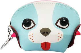 Sky Blue Cute Dog Style Coin Purse & Pouch